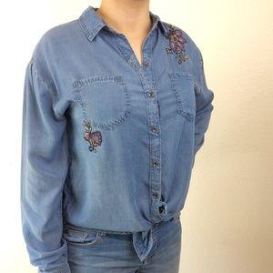 Knox Rose | Button Down Blouse Floral